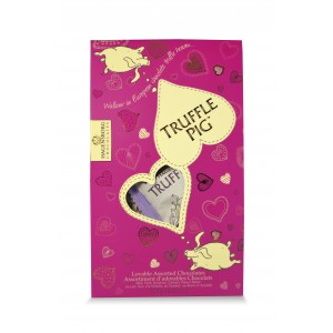 Valentine's Truffle Pig Chocolate Pouch-Assorted