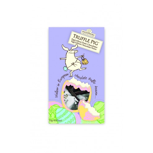 Easter Truffle Pig Chocolate Pouch-Dark