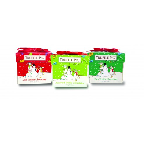 Christmas Truffle Pig Chocolate Mini Box-3 Pack