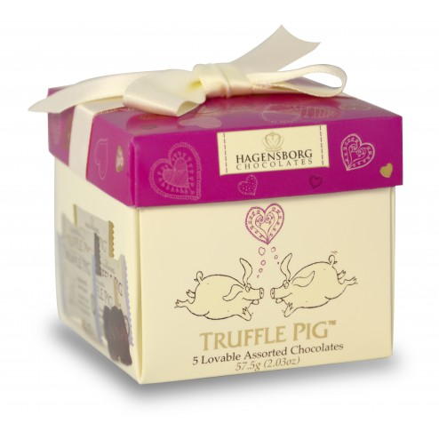 Valentine's Truffle Pig Chocolate Mini Box-Assorted