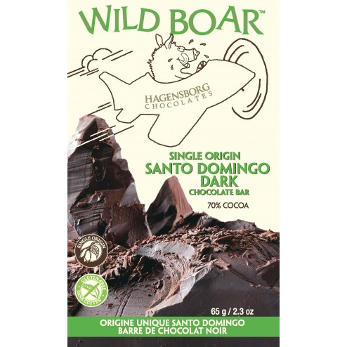 Single Origin Wild Boar Chocolate Bar - Santo Domingo 70%